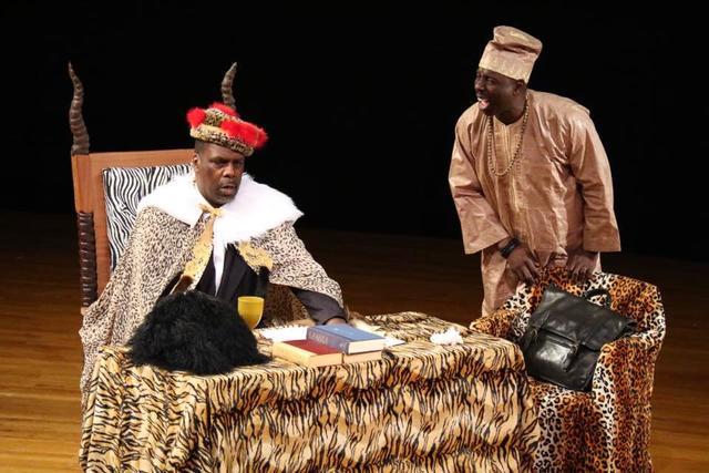 Kevin Maynor (Jomo Kenyatta) and Sam McKelton (Oginga Odinga)